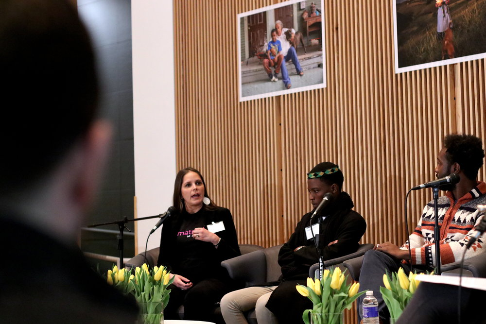 The symposium featured panelists from various locations, including Syracuse and South Africa. Photo by Saniya More.