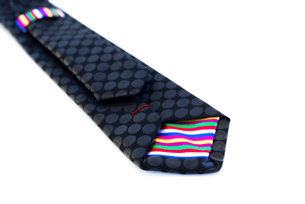 Black Dot silk custom Rachel Park Designs tie