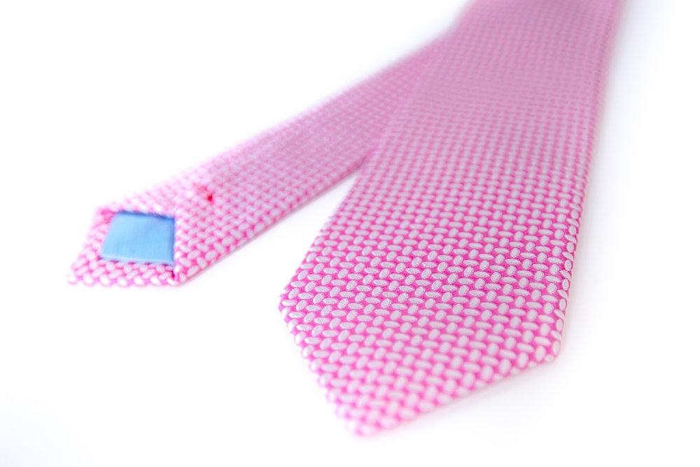 Pink silk custom Rachel Park Designs tie