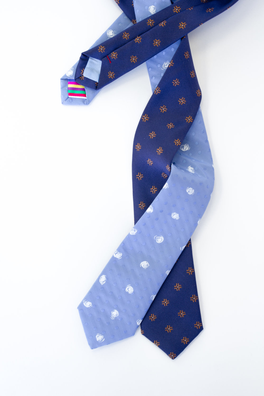 Blue silk custom Rachel Park Designs ties