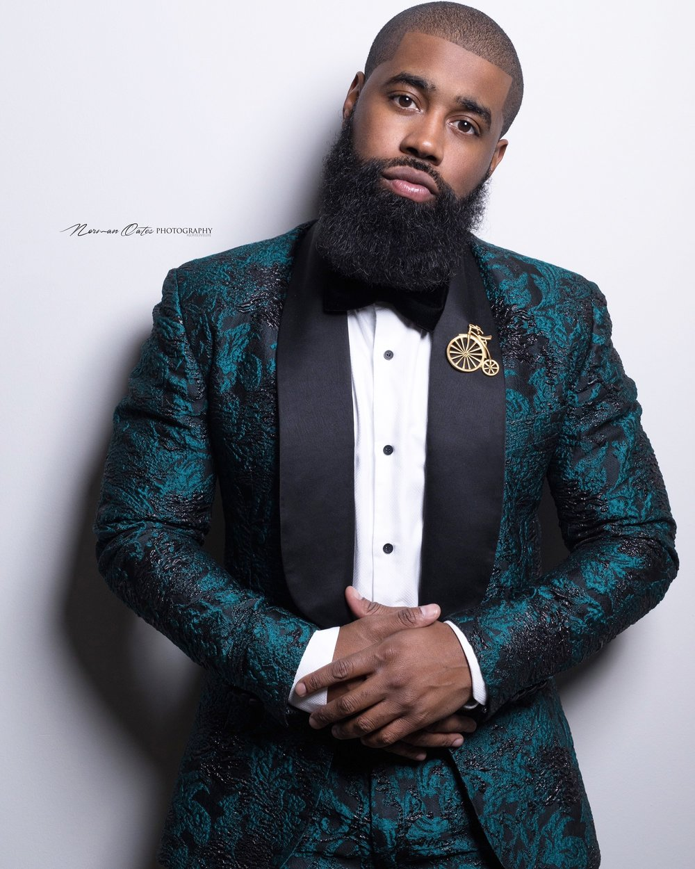 Darrick Leak, founder of D.Leak Bow-Ties. Photo: Norman Oates Photography
