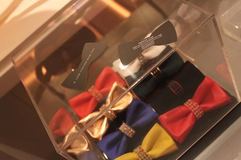 D. Leak's (colorful) Leather Bow-Ties. Photo: Durrell Leak
