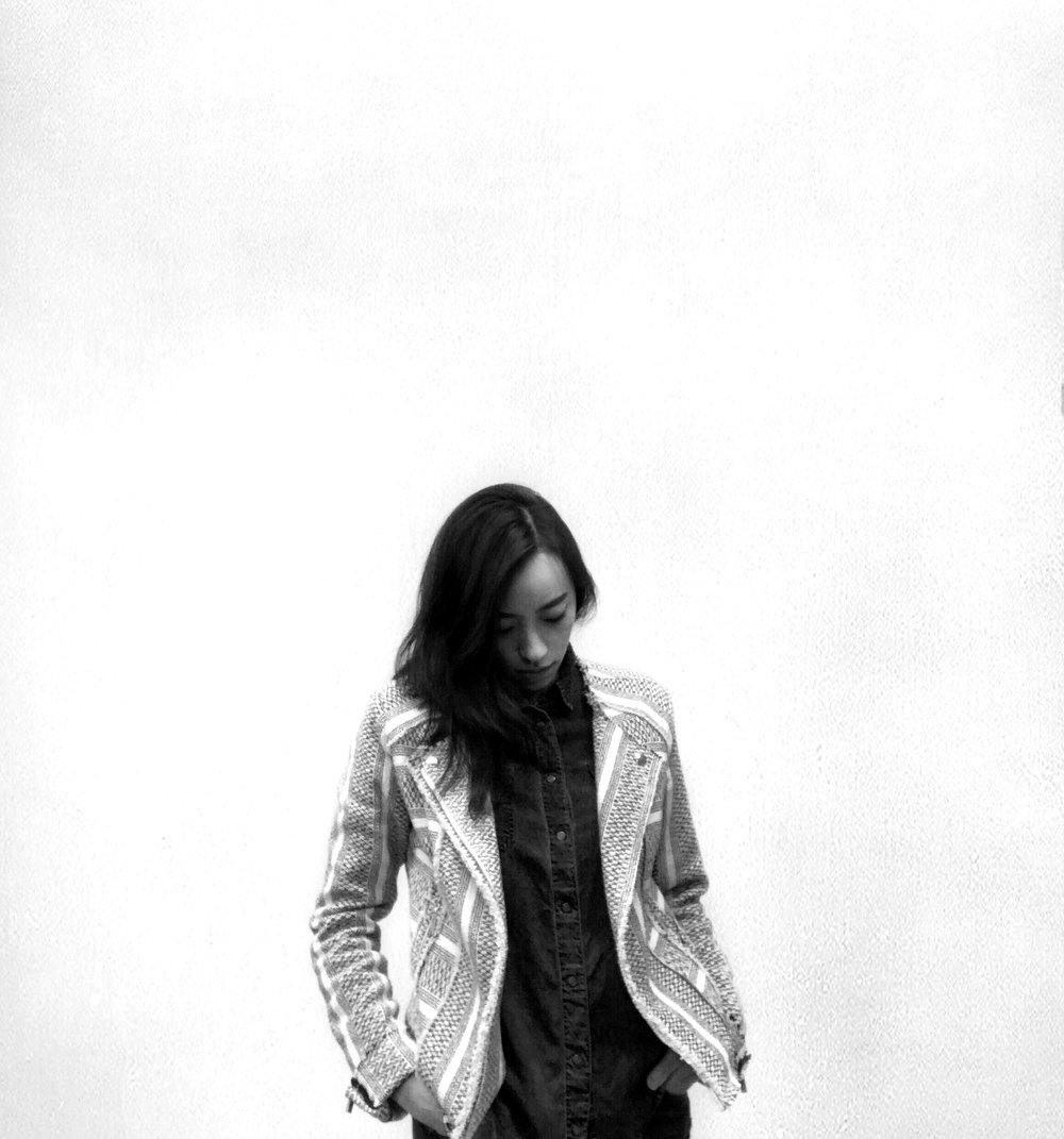 Writer & fashion editor of  Composure Magazine , Min Lee, wearing her love of menswear. Photo: Min Lee
