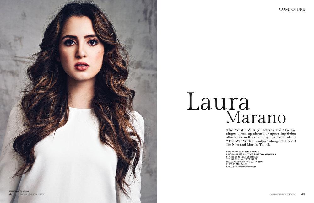 Min's feature on the actress/singer, Laura Marano, for  Composure Magazine . Photo: Composure Magazine