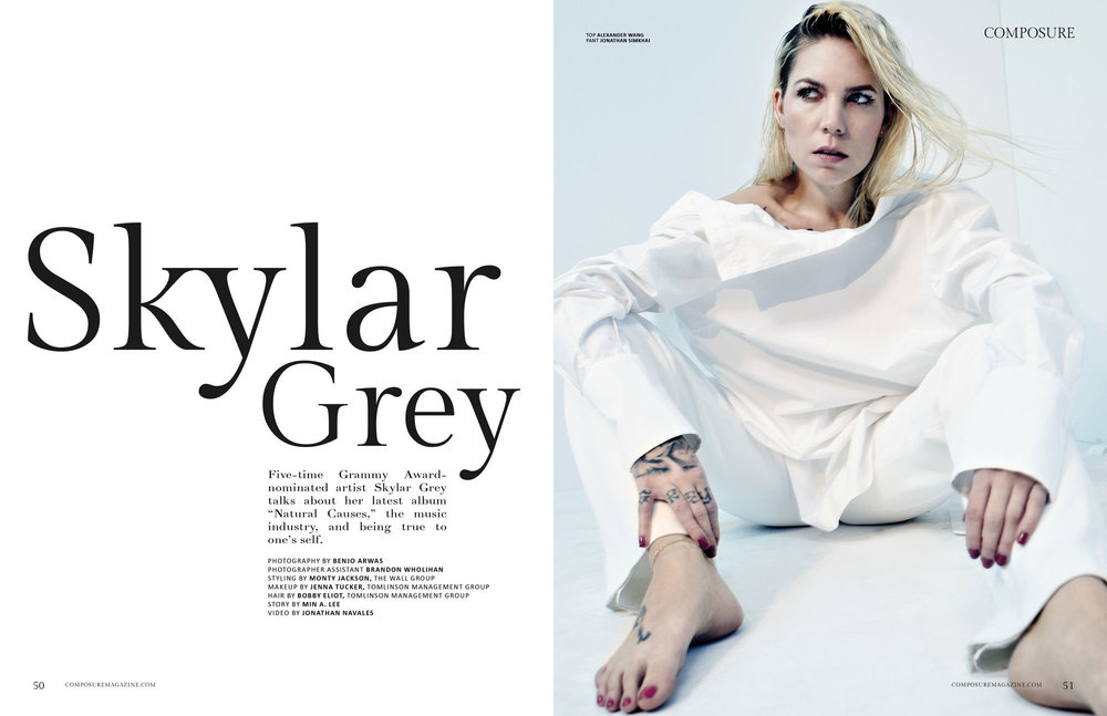 Min's story on Grammy Award-nominated artist, Skylar Grey, for  Composure Magazine . Photo: Composure Magazine