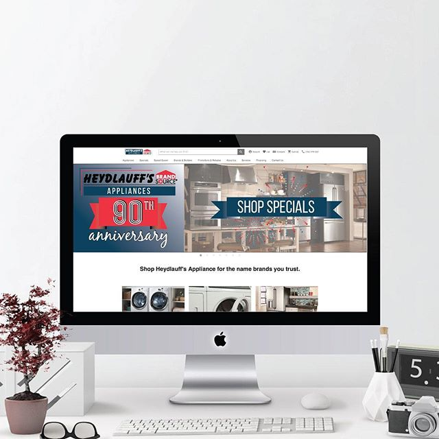 FRIDAY!  FRIYAY!  CELEBRATE!  That's also what the folks at Heydlauff's Appliances are doing for their big 90th Anniversary year!  Congrats to them, and congrats to your for making it through another work week!⠀ ⠀ #celebrate #tgif #happyanniversary #friyay #websitebanner #webdesign #graphicdesign #lovewhatyoudo #dowhatyoulove #custom #contrast #keepitcustom #ebdesignstudio #chelsea #dexter #chelseami #puremichigan #smallbiz #mycreativebiz #makersgonnamake #creativelifehappylife #handsandhustle #buildyourbrand⠀