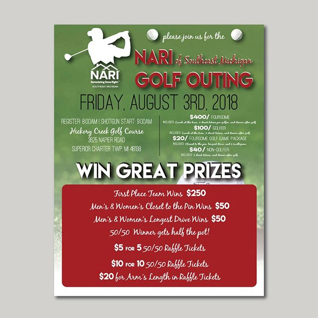 Our #tbt today is to a golf outing flyer we created just this summer.  Cohesion in events is key people, I keep telling ya that!  #golfouting #golfoutingflyer #eventflyer #eventdesign #marketing #graphicdesign #lovewhatyoudo #dowhatyoulove #custom #contrast #keepitcustom #ebdesignstudio #chelsea #dexter #chelseami #puremichigan #smallbiz #mycreativebiz #makersgonnamake #creativelifehappylife #handsandhustle #buildyourbrand