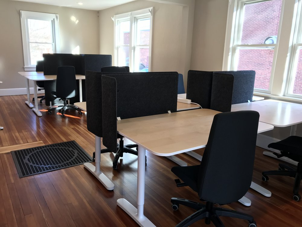 First floor dedicated desks