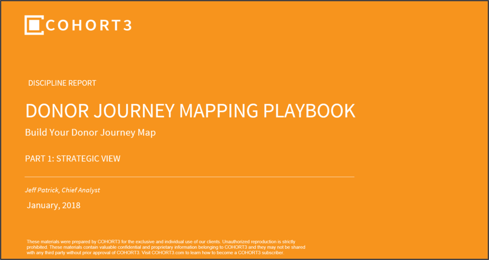 Learn how to craft your donor journey map. Download the 25-page report today.