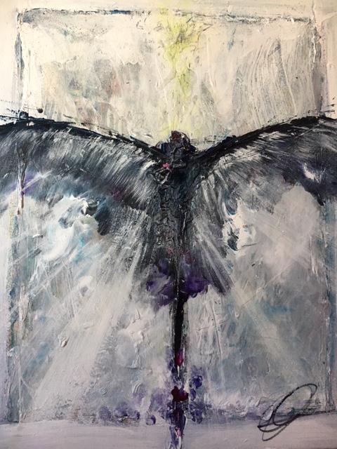 "Raven Angel :: 18""x20"" :: $395"