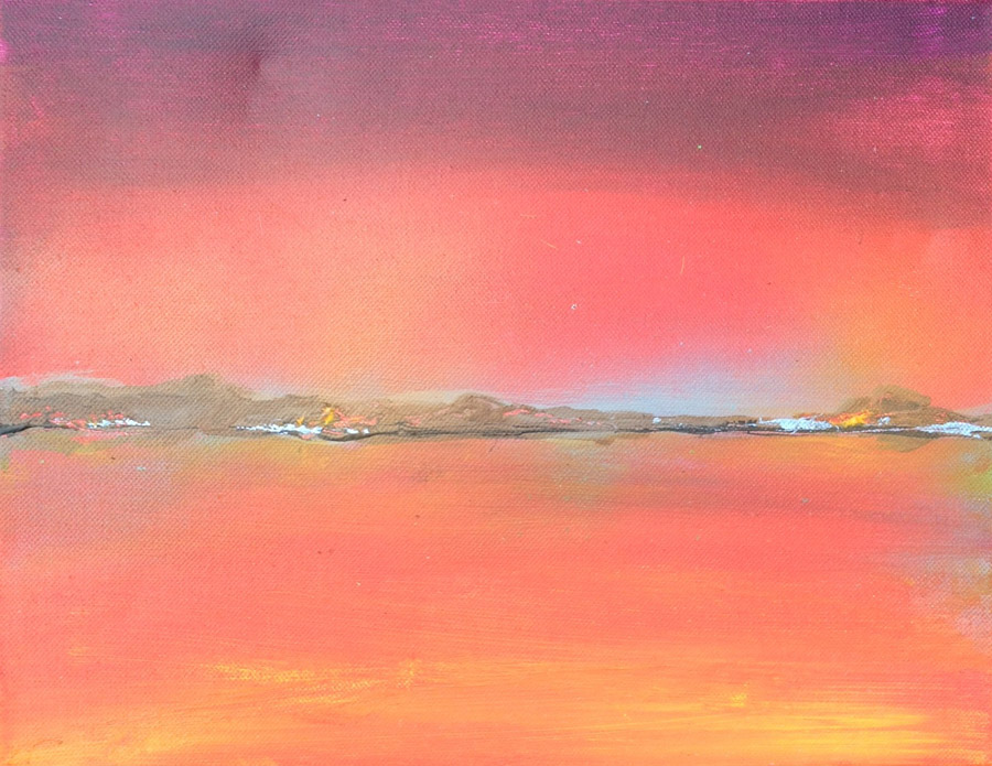 "Sunset :: 16""x18"" :: $270"