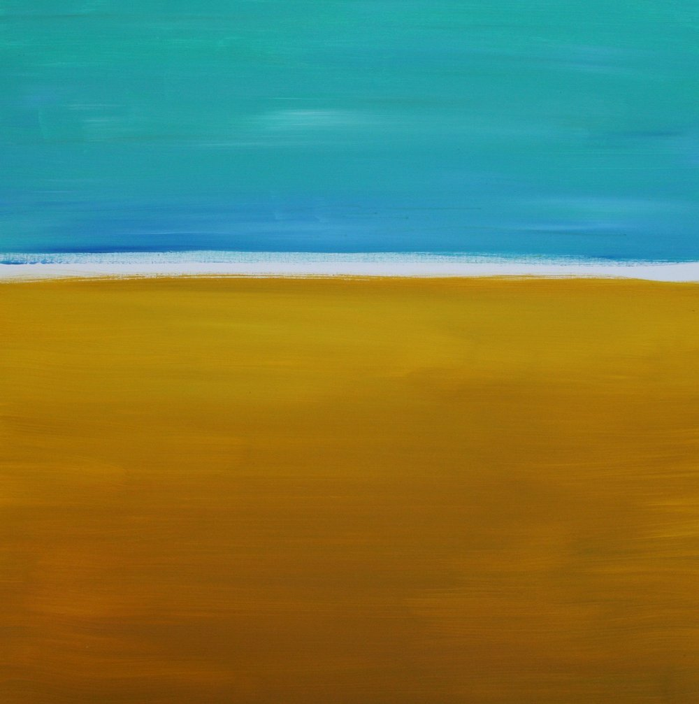 "White Line #1 (Kalaulu) :: 40""x40"" :: $950 :: SOLD"