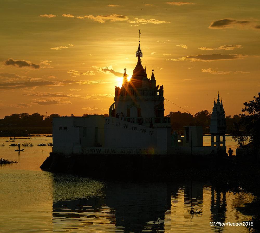 Burmese Temple, Mandalay, Myanmar