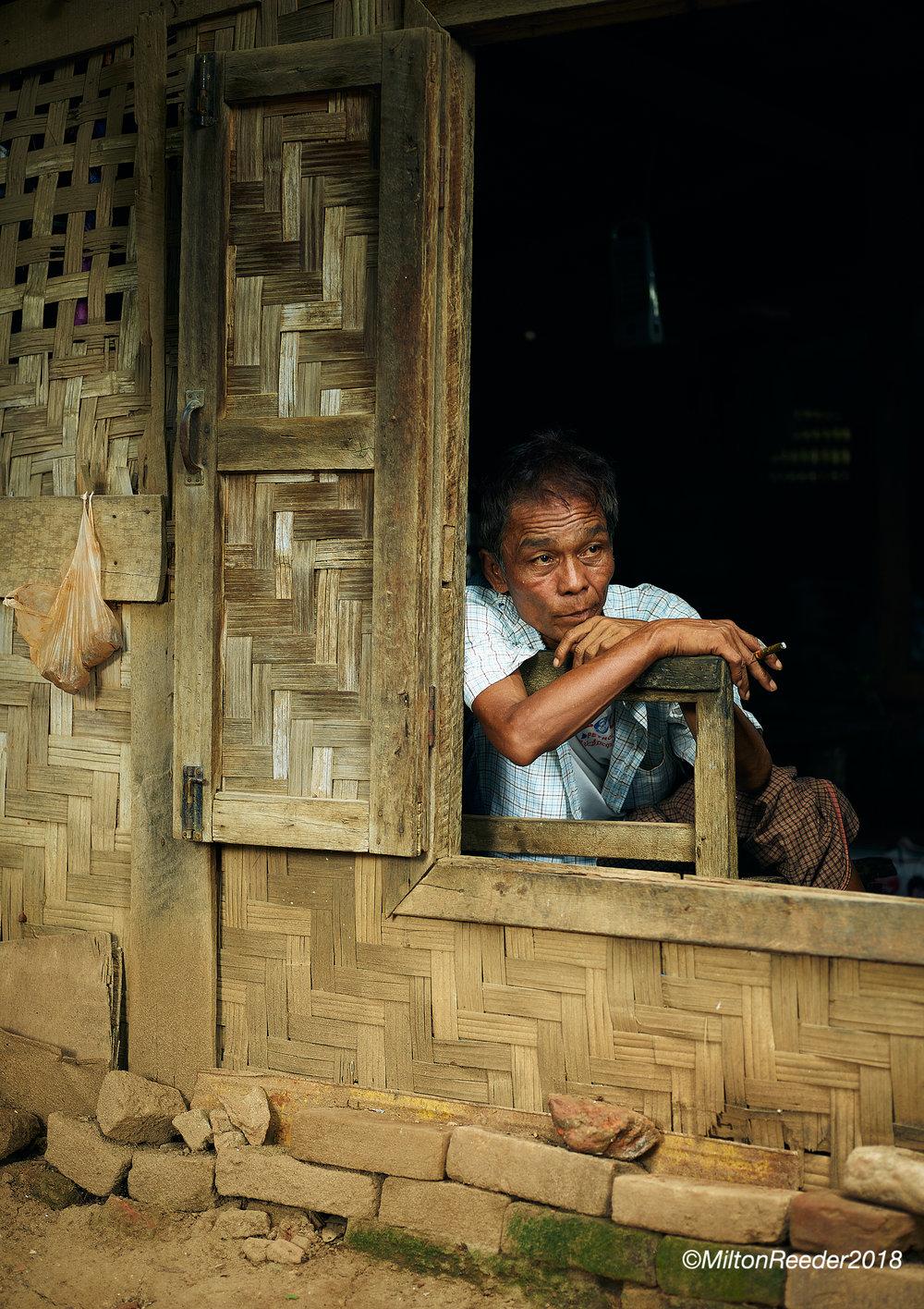 Man in Window, Mandalay, Myanmar