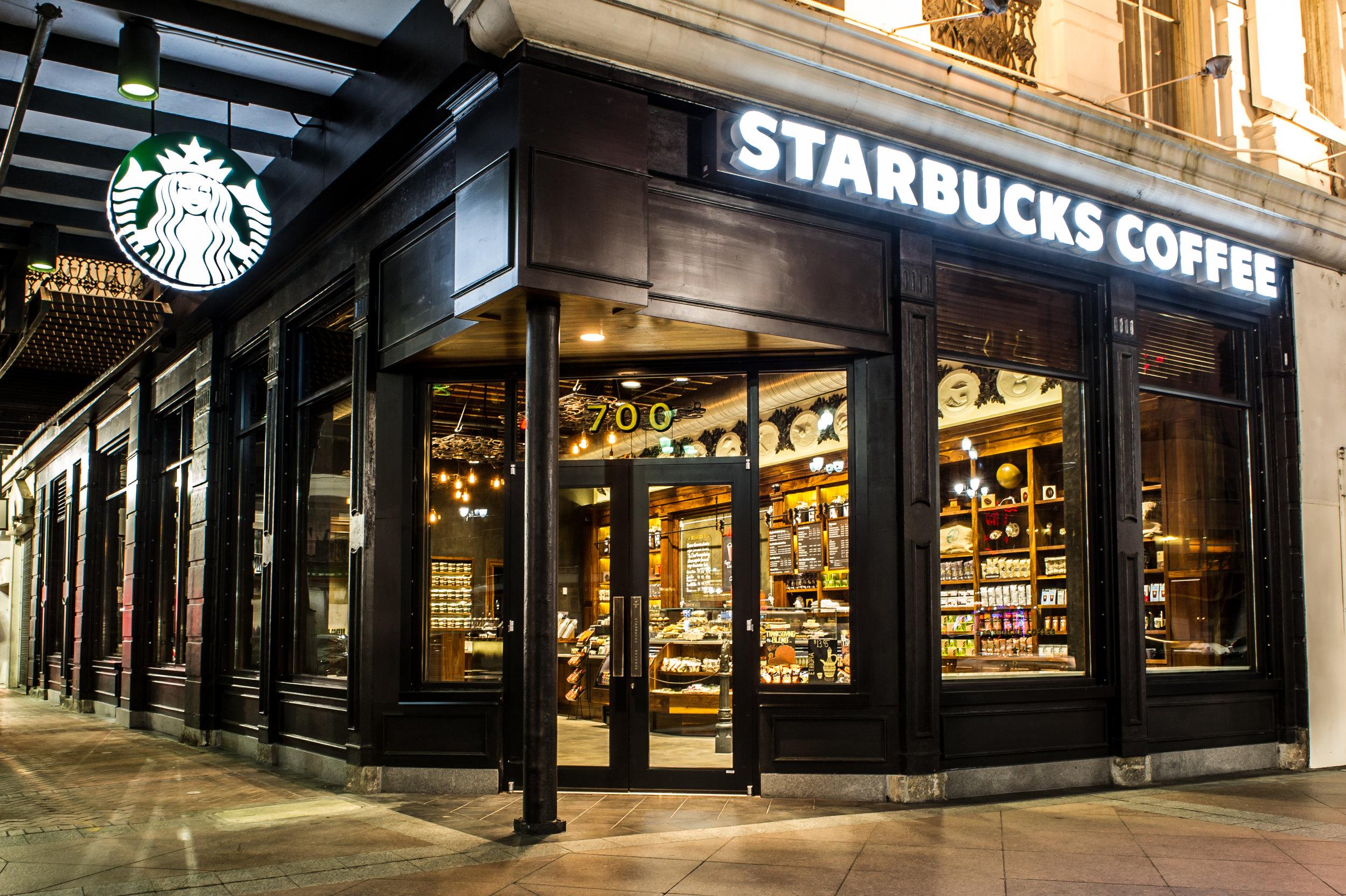 Outside Starbucks