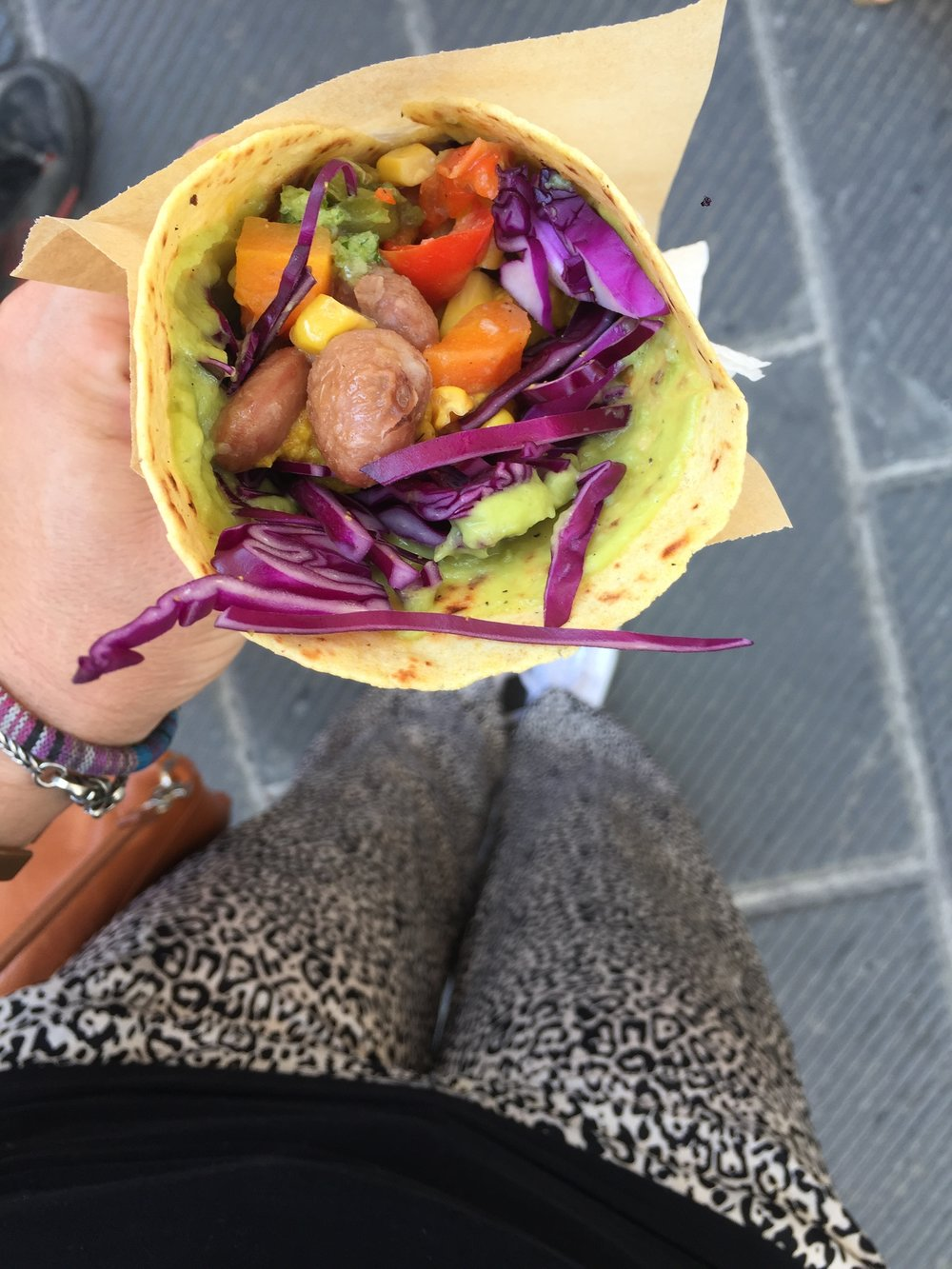Sometimes self-care is a vegan burrito even if everyone around you is eating pork #italy