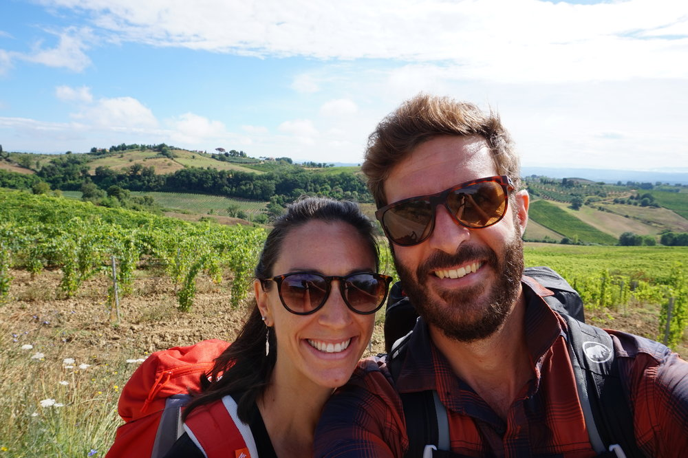 tuscany italy honeymoon via francigena walk hike trek
