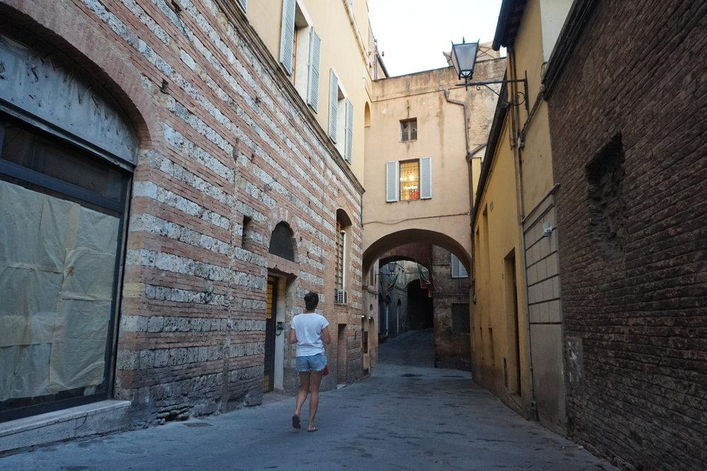 Wandering in Siena