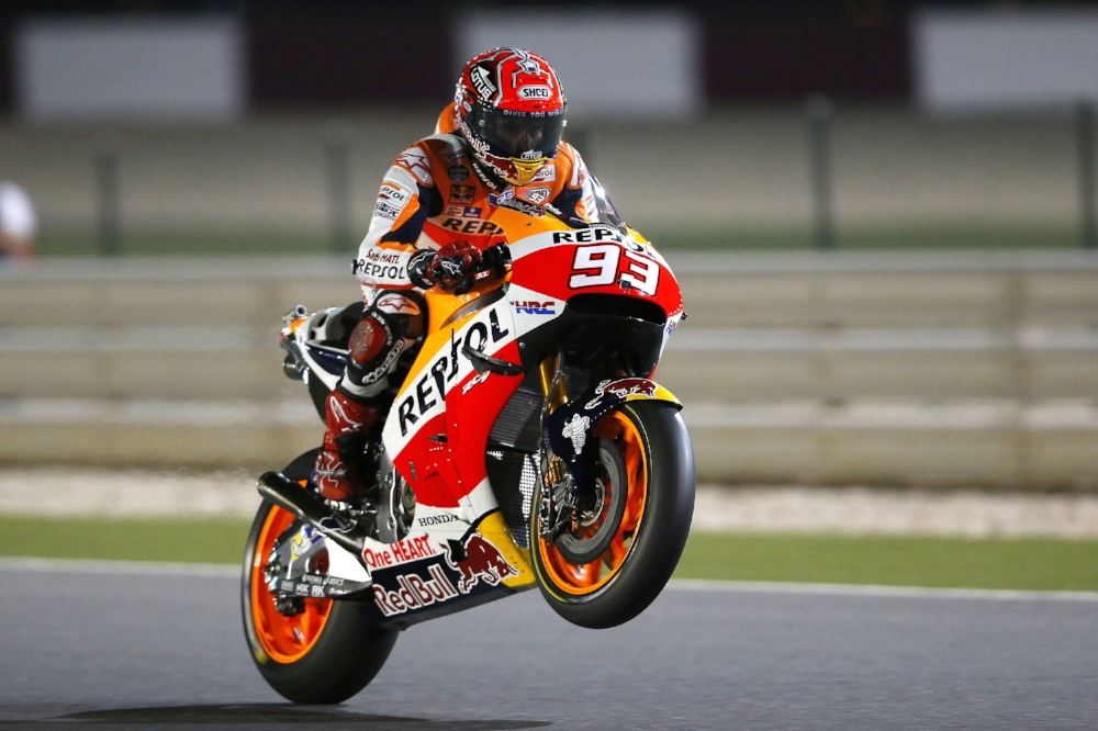 Give us something thrilling, MM93. Photo by Box Repsol.  Life of Moto.  Lifeofmoto.com