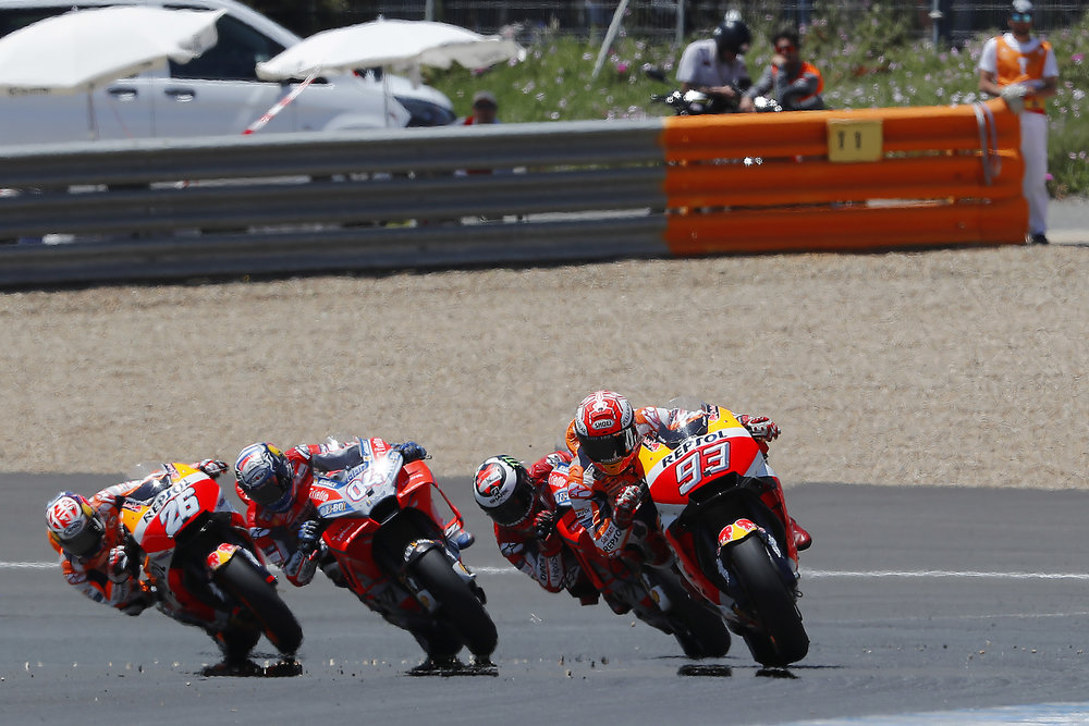When Jerez MotoGP was all Hondas and Ducatis. Photo: Box Repsol.