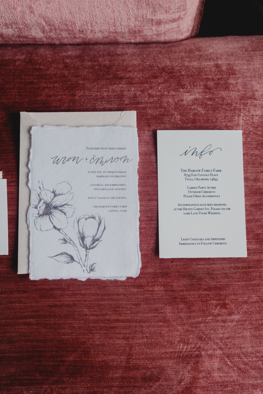 Semi-Custom Invitations — Kindled Paper Co