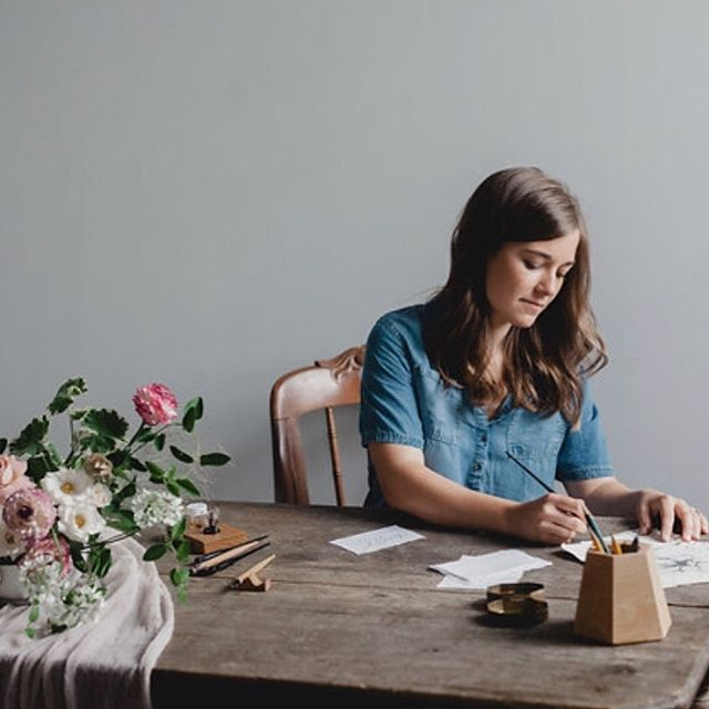 Happy #fridayintroductions everyone! I don't know about you but I am sure happy it's the weekend! This cold rainy week has had me oh so sleepy and I'm ready for my cozy warm weekend at home! . For those of you who are new around here my name is Ryann and I am the face behind Kindled Paper Co! Here's a picture of me in my not so natural environment 🤫 I do my best to create beautiful letters for not only your best days but also your ordinary days. I hope when you stop on by you leave feeling encouraged and inspired. . I'd love to hear more about YOU! What's on the schedule for this fall weekend? 🍂