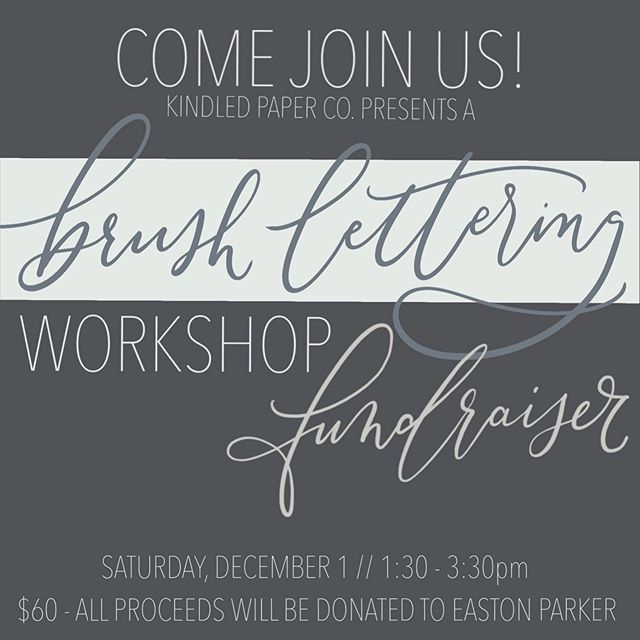 💥WORKSHOP ALERT!💥 If you have ever wanted to learn the art of hand lettering and at the same time donate to a great cause this is your chance! On December 1st we are hosting a 2 hour beginners course on hand lettering. Just in time for the holiday season so you can whip out those fancy holiday cards🎄 . Email or send us a direct message to get more info and sign up!!