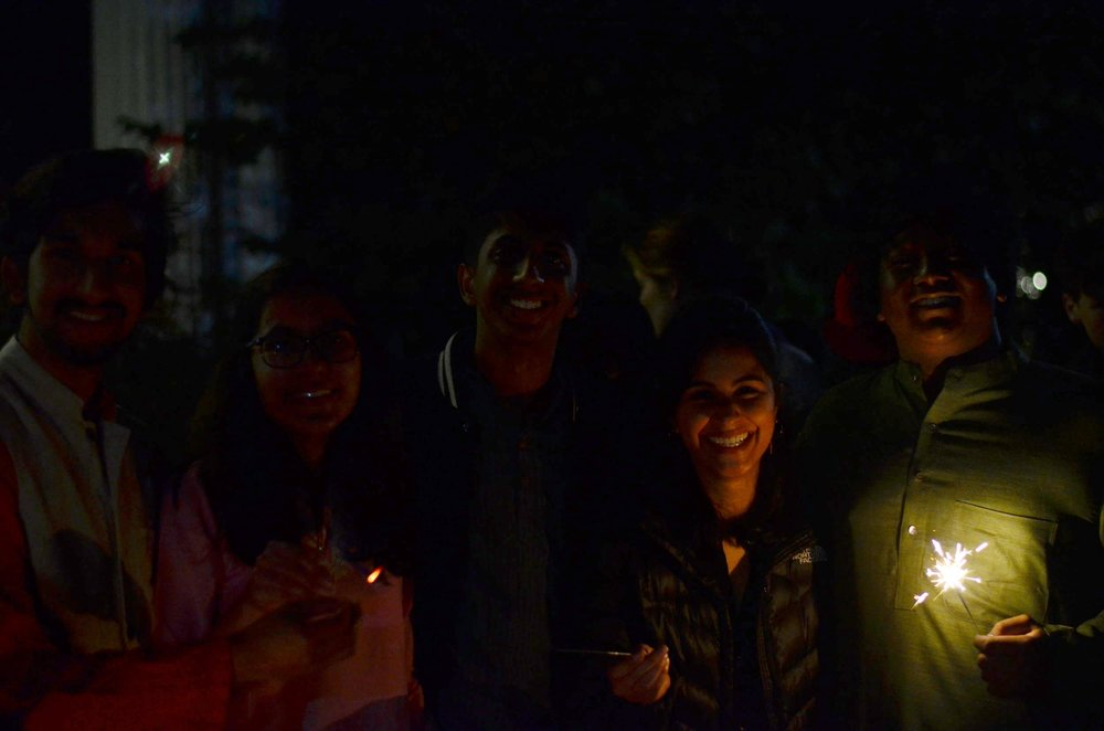 Friends at Swarthmore celebrate Diwali. Photo by Pavan Kalidindi.