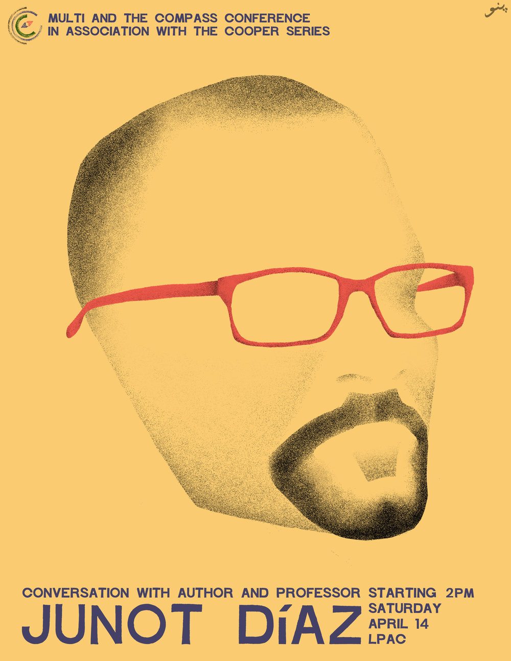**Note: Junot Diaz will now be starting at  3:30pm