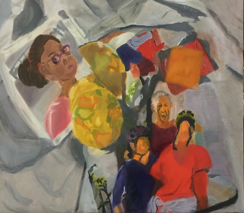 The above painting, created by Meghan Kelly, depicts her own adoption narrative.