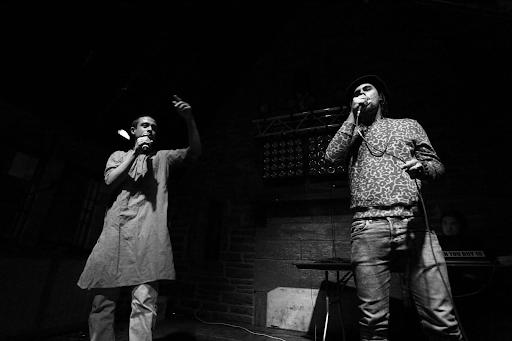 Harsha Sen '19 performing alongside Tiye Pulley '19.