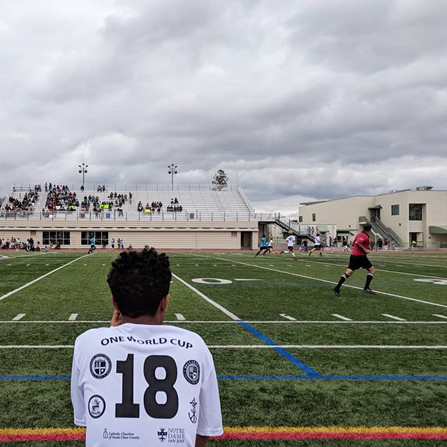 Despite some rain, it was a great turnout this afternoon for this fun soccer match between high school students and refugee foster youth. Thank you to all who for helped with this event for our Refugee Foster Care program.  #OneWorldCup2018 #handinhand #FosteringaBetterWorld