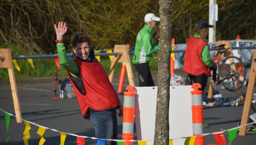 Volunteer - Volunteering is giving. Giving to the athletes, your community and to yourself. Donate a few hours of your time to volunteer for the Spring Triathlon.