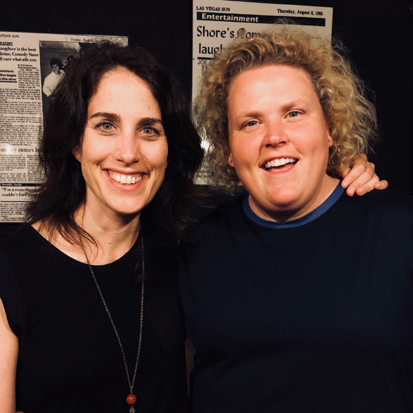 Erin with comedian Fortune Feimster.