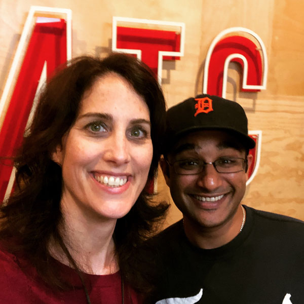 Erin with SWB guest Muneesh Jain.
