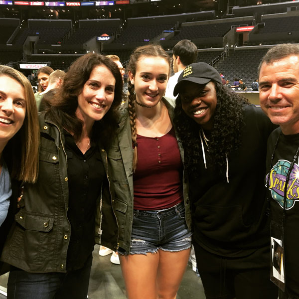 Erin hanging with Arike Ogunbowale from the Sparks!