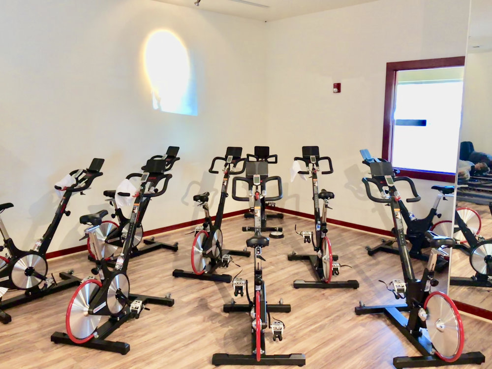 Large Multipurpose Room With new Keiser M3I cycles, bungees, TRX, new V-Max STOTT Pilates Reformers Towers -