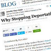Why Stopping Deportation Is the Right Thing to Do *w/ Sam Adair - It is estimated that there are between 3.7 and 5 million people who would benefit from the DAPA and expanded DACA programs. These programs would provide a temporary avenue for adults — often parents of school-age children — who are here working and living in fear of deportation. And yet lots of people are fighting against these families.HUFFINGTON POST - APR 9, 2015