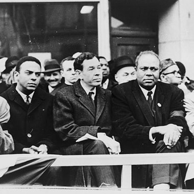 Kids must learn Black History Movements and Heroes - Childhood lessons about black history often overlook important but less well-known figures including (from left) Bayard Rustin, Andrew Young, (second from right) James Farmer and John Lewis, who join Rep. William Fitts Ryan (center) in New York in 1965 during the Civil Rights Movement.EMPATHY EDUCATES - FEB 27, 2015