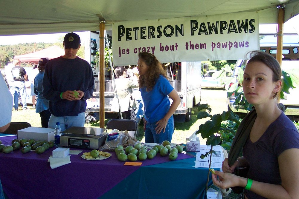 """Our booth at the Ohio Pawpaw Festival"""