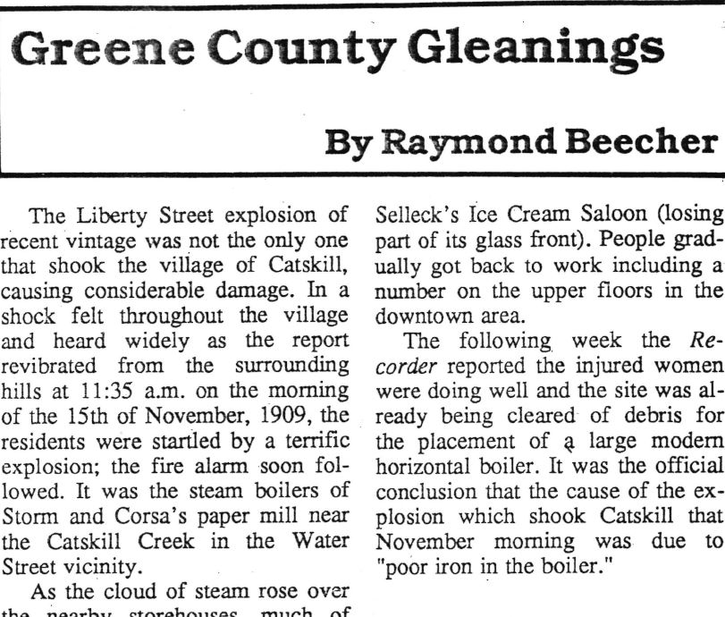 Greene County Gleanings - After his appointment as County Historian in 1993, Dr. Raymond Beecher commenced a regular newspaper column covering topics and stories related to the history and people of Greene County. These articles have recently been digitized from originals in our collections.