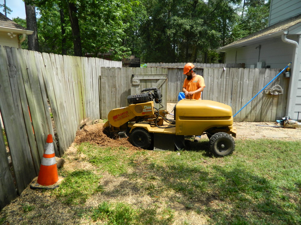 If our stump grinder can't access the area, we may be able to remove the stump and the bulk of the roots by hand