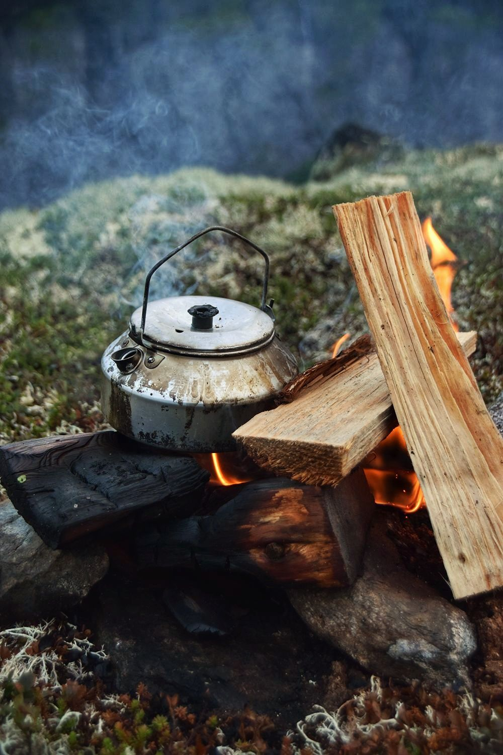 Hot coffee or tea from the campfire? - Trolltunga Adventures Wilderness Camp