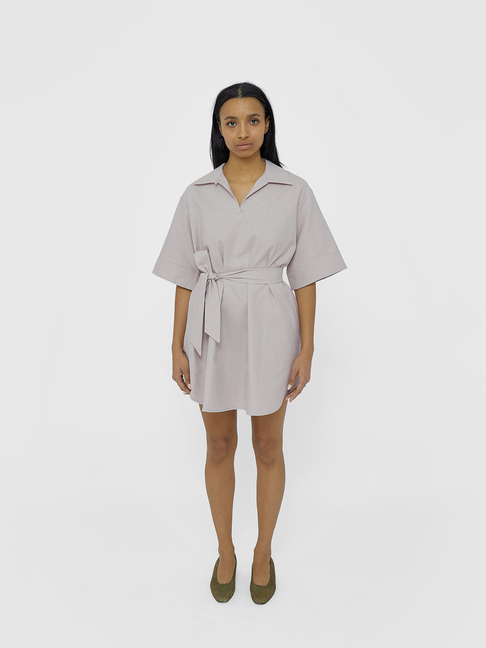 Kirsten Wears One DNA Versatile Tunic in Pale Lilac