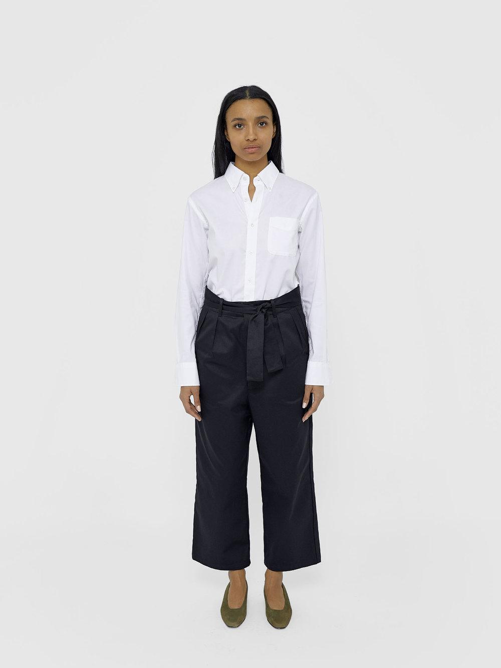 Kirsten Wears One DNA Paperbag-waist Pant In Black