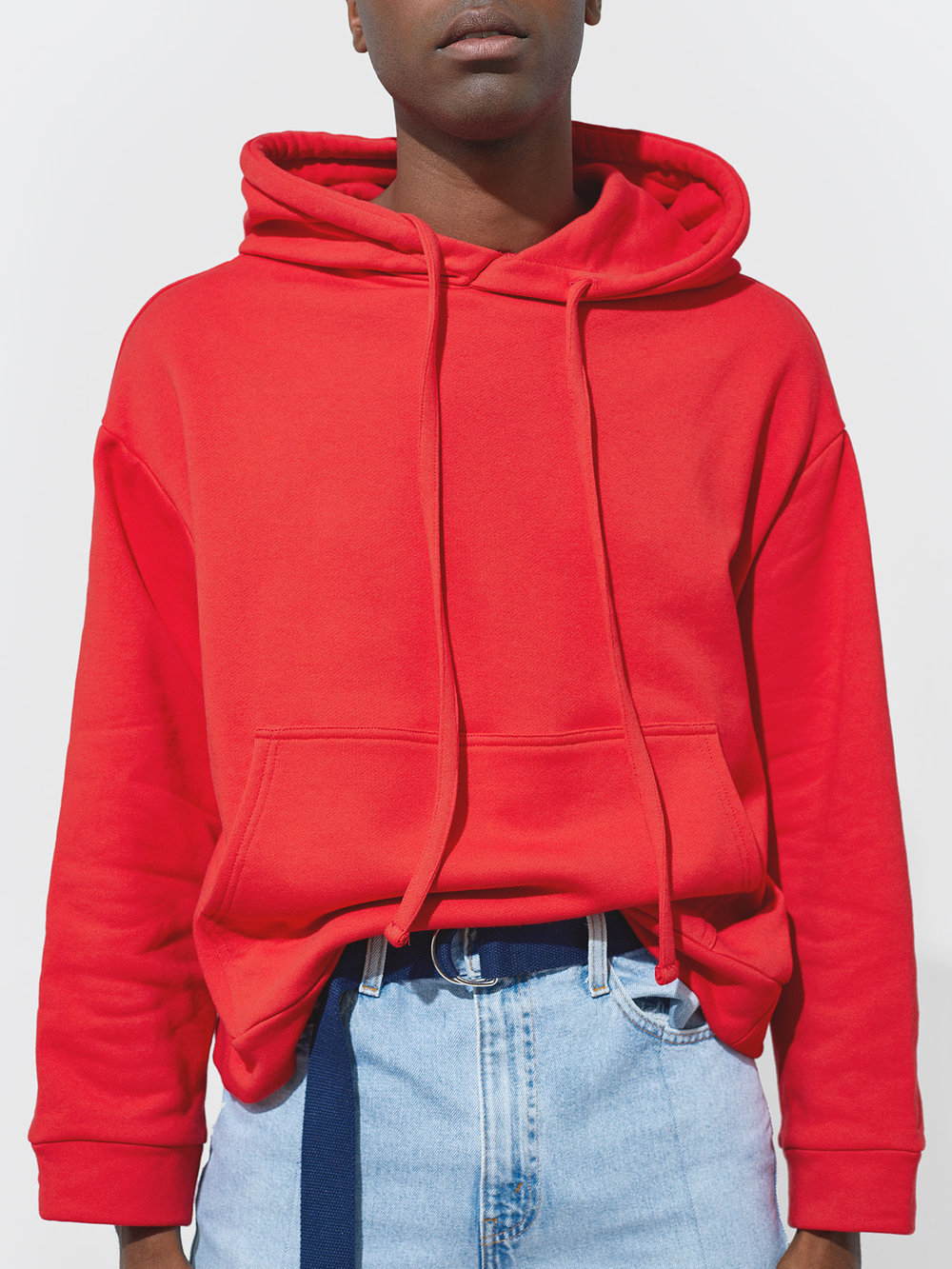Travis Wears One DNA Oversized Hoodie in Red