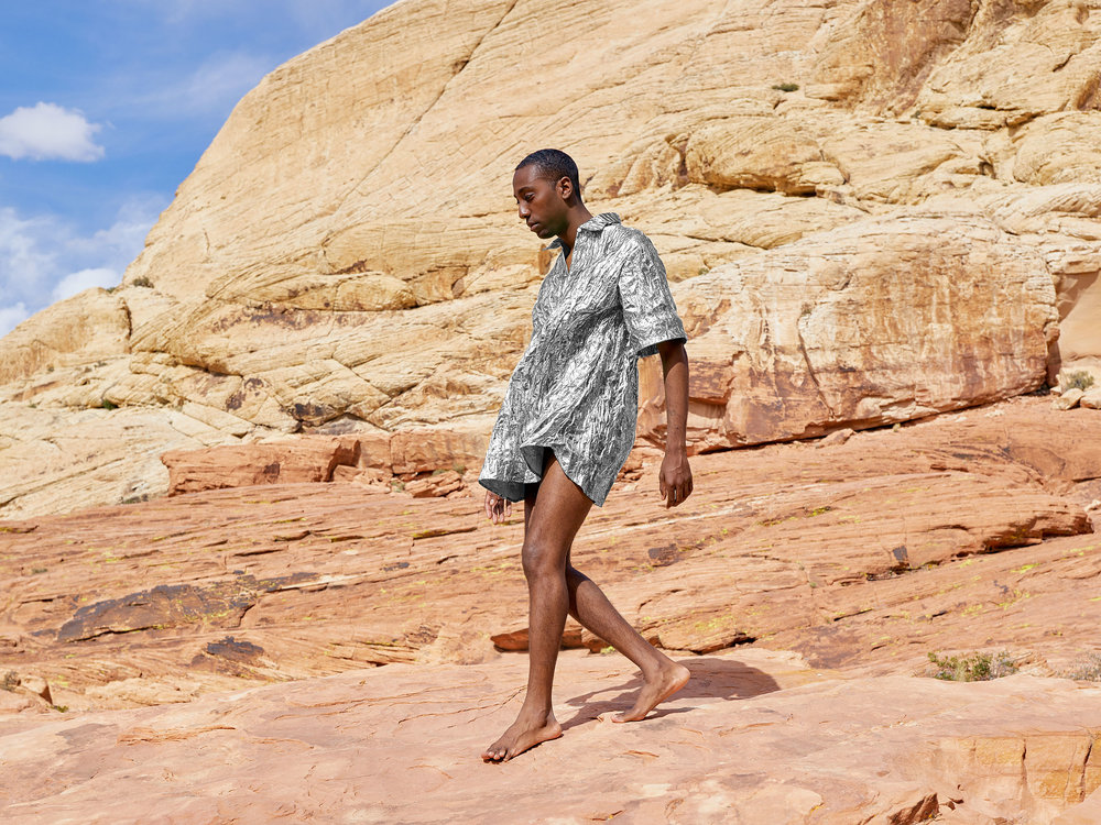 Travis Weaver in the Nevada desert. Image by Simon Black.