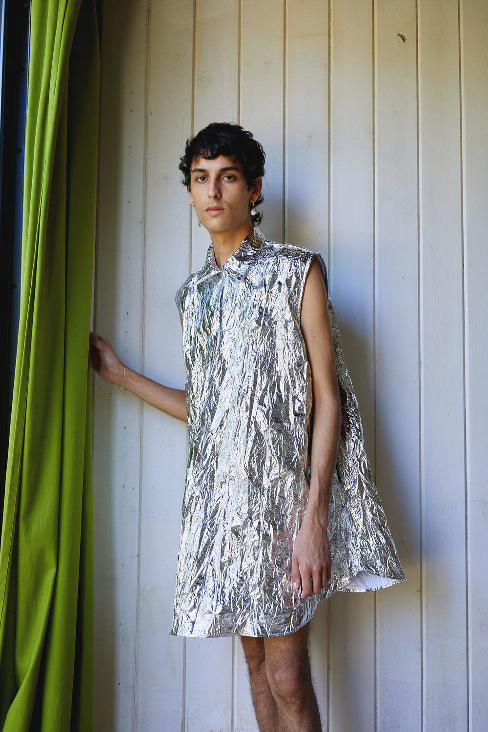 One DNA Silver Foil Tunic