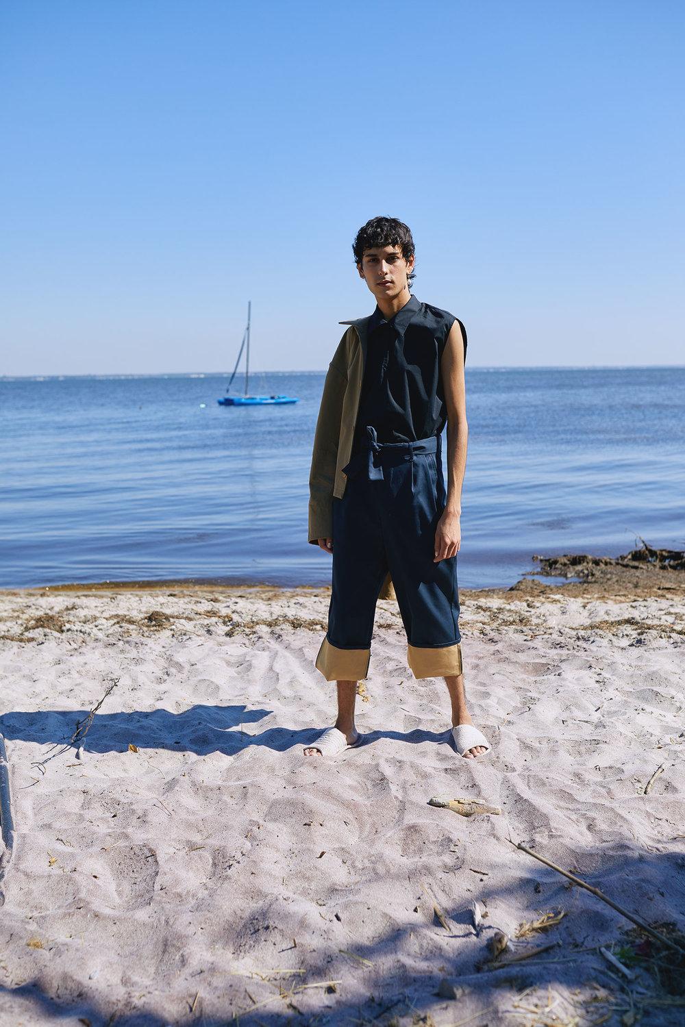A Look from One DNA's SS19 Men's Collection Photographed at Fire Island
