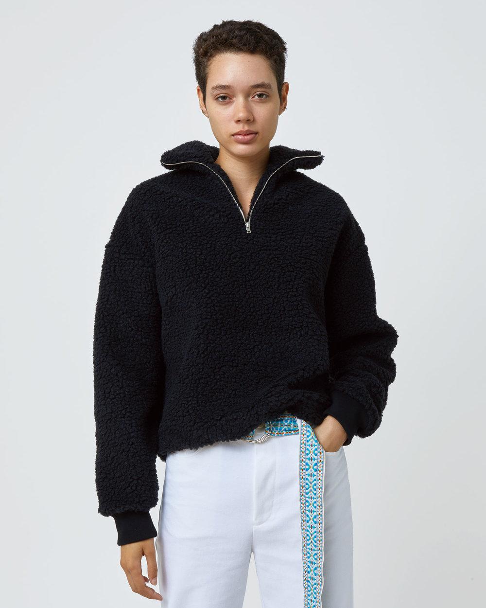 Shop One DNA Sherpa Fleece Half-zip in Black